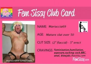 Mariucciaslave - Become a sissy fagot whore