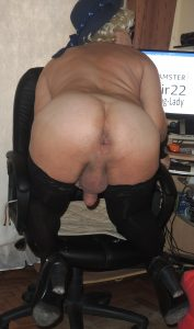 Slutty Russian fag-sissy Valery shows her hot ass. Part 2.