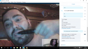 Tiny small dick slave in action