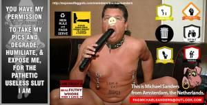 FAG Michael Sanders is a Filthy FAT HOG!