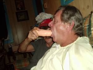 Master says suck that rubbercock