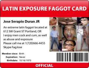 Faggot Jose Serapio Duran Jr