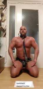 Fag on knees