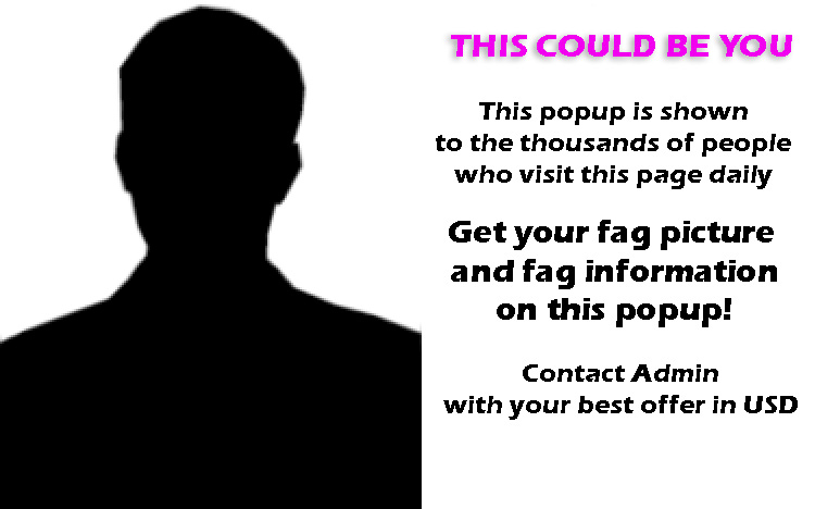 Get your fagface on the homepage popup!