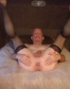 Pete Richard - Exposed faggot ass ready for a real man's breeding