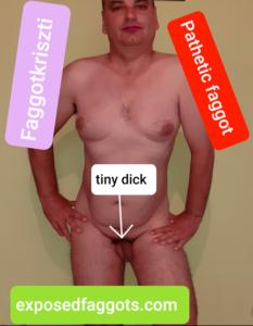 Faggotkriszti,pathetic tiny dick faggot
