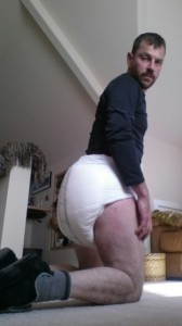 Diaper Fag and a huge diapered ass.