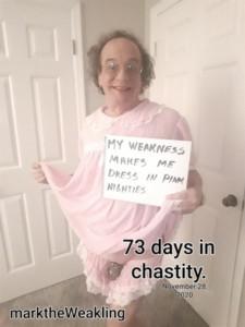 marktheWeakling 73 DAYS CHASTITY NEW PINK NIGHTIE