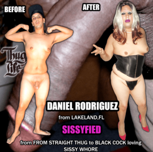 DANIEL RODRIGUEZ FROM THUG TO COCK LOVING SISSY WHORE