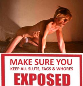 exposed slut