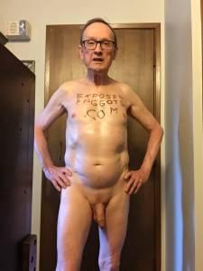 Exposed Faggot Pervert Slut Poses Naked