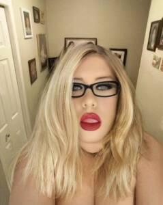 Blonde Plastic sissy faggot