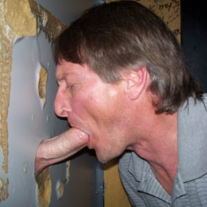 This is me sucking off a real man at a glory hole.