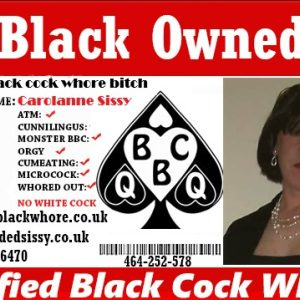 black cock slut carolanne