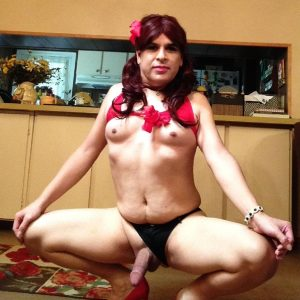 Tranny Faggot Oscar Gonzalez Shows Her Clit.Expose This Bitch !