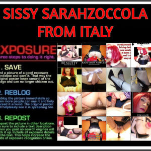 sissy cunt whore SarahZoccola is a white stupid slave