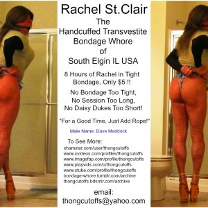 Rachel St.Clair the Phat Ass Handcuffed Bondage Whore
