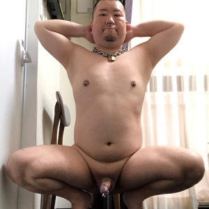 The pig slave Yoshimoto Iimoto is permanently exposed and permanently locked in chastity.
