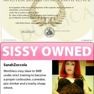 SarahZoccola - a real sissy slut knows her role