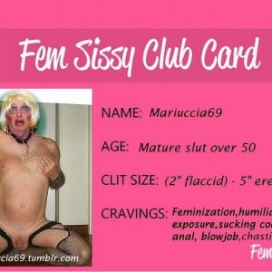 Mariucciaslave - Become a sissy fagot whore