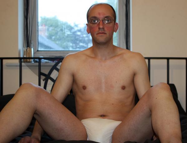 Diaper wearing fag
